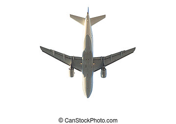 aircraft isolated on white - passenger commercial aircraft...