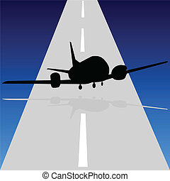 aircraft leave the runway