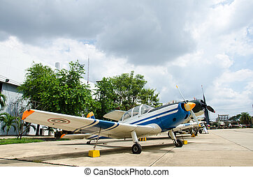 Aircraft on display at The Royal Thai Air Force Museum, Bangkok,
