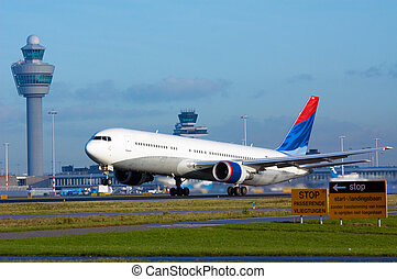 aircraft on takeoff