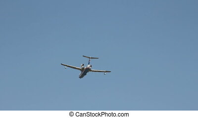 Aircraft on the blue sky
