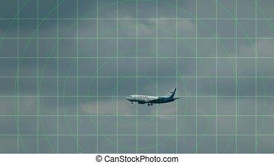 aircraft on the radar screen