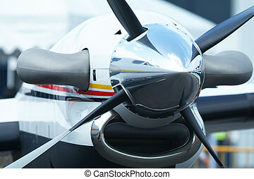 Aircraft propeller - Propeller of twin engine, turboprop...