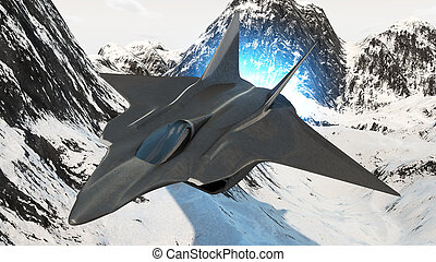 aircraft prototype - prototype of the future fighter...