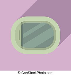 Aircraft repair window icon. Flat illustration of aircraft repair window vector icon for web design