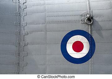 aircraft rivets - riveted fuselage panel on vintage british...