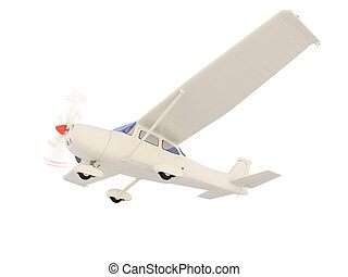 aircraft skyline isolated view - isolated small airplane ...
