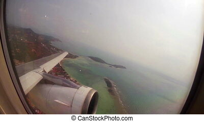 Aircraft Takeoff - airplaine takes off from thailand,...