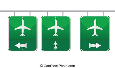 aircraft traffic sign illustration