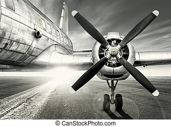 aircraft - waiting for a last take off
