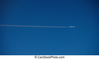 Aircrafts fly at parallel course - Aerial view from window...