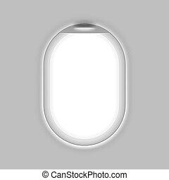 Aircrafts window illustration