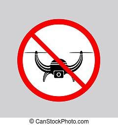 airdrone, 写真, 印。, 止まれ, 空気, 無人機, ビデオ, 割り当てられる, アイコン