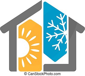 aire acondicionado, casa, diseño