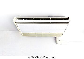 aire acondicionado, colgado, en, el, ceiling.