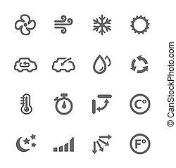 aire acondicionado, iconos