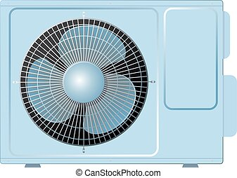 aire, dividir, condicionamiento