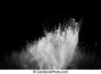 aire, forma, explosión, polvo, humo, plano de fondo, negro