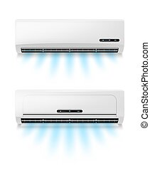 aire, realista, eqipment, condicionamiento, acondicionadores