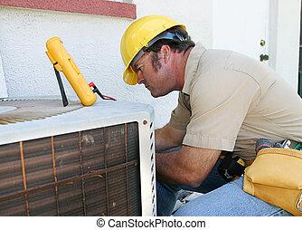 aire, reparador, 4, condicionamiento
