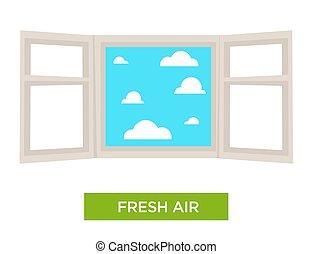aire, ventana, salud, contribuyente, fresco, fuerte, abierto
