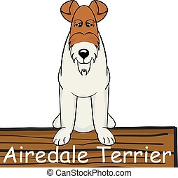 Airedale Terrier cartoon dog icon