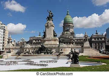aires, buenos, アルゼンチン, 都市, 美しい