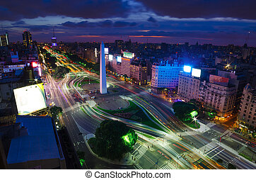 aires, buenos, nuit