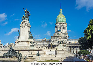aires, place, argentine, buenos, congressional