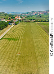 Airfield - Local small village airfield aerial viee