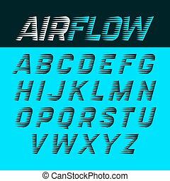 Airflow font illustration