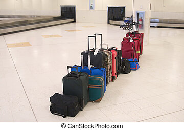 Airline Baggage - Passenger baggage and luggage in the...