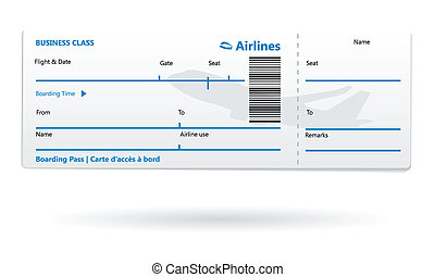 Airline boarding pass blank - Illustration of blank boarding...