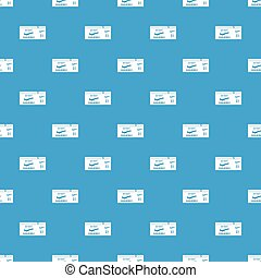 Airline boarding pass pattern seamless blue