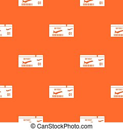 Airline boarding pass pattern seamless
