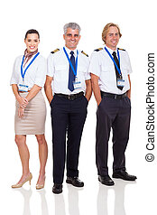 airline captain and crew