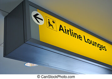 airline lounge sign