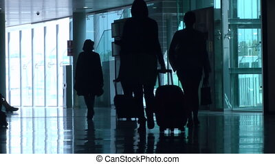 Airline Passengers - Passengers walking in the airport...
