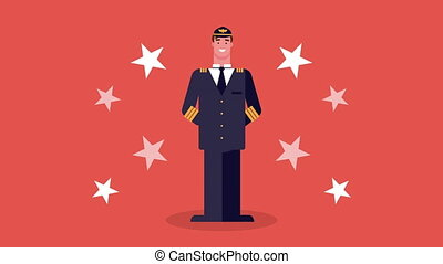 airline pilot worker avatar character