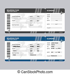Airline Ticket Boarding Pass. Vector