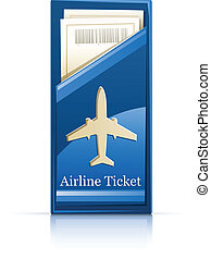airline ticket vector illustration isolated on white ...