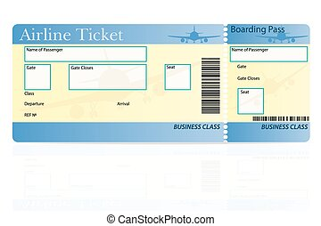 airline ticket vector illustration isolated on white...