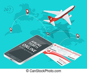 Airline tickets online. Buying or booking Airline tickets....
