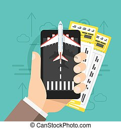 Airline tickets online Buying or booking.