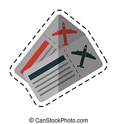 airline tickets pass airplane cutting line