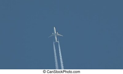 Airliner at cruising altitude - Plane at cruising altitude...