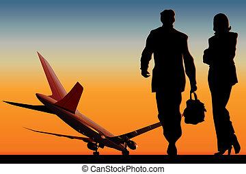 Airliner at runway