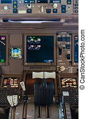 Airliner cockpit details