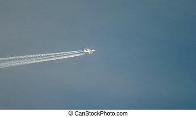 Airliner flying high