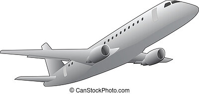 airliner - illustration of airplane, seen from below